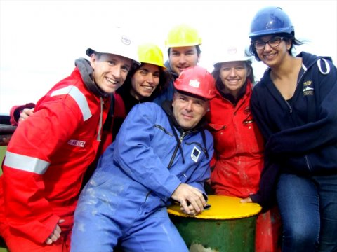 Happy science team! From left to right: Gareth, Laura, Paul, Claudio, Jenny and Tahmeena